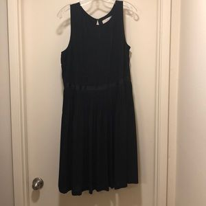 LBD! Loft Black pleated dress EUC